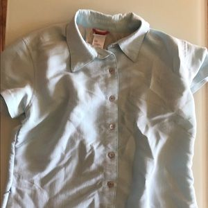 Woman's north face button down shirt